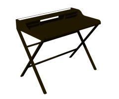 Modern design writing designed wooden desk 3d model .3dm fromat