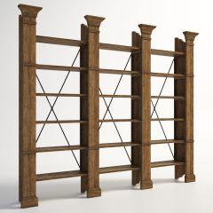 クラシック家具ザビエルトリプル本棚(最大2009)