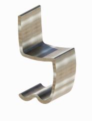 Metal decoration chair revit family