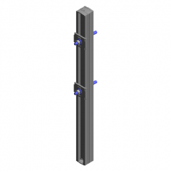 anchor bolt to the right revit family