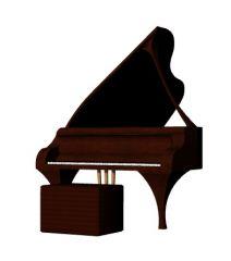 Modern designed large baby grand piano design 3d model .3dm format