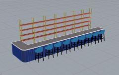 Bar counter 3dm model