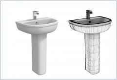 Lavandini da bagno collezione di modelli 3ds max