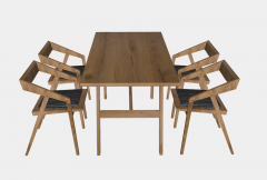 Kitchen table with 4 armchairs sketchup