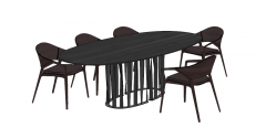 Ellipse kitchen table with chairs sketchup