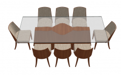 Kitchen rectangle table with glass table top and 8 chairs sketchup