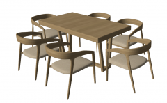 Wooden kitchen table with 6 chairs sketchup