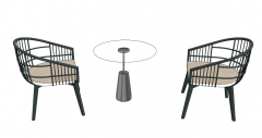 Chairs and sofa table skechup