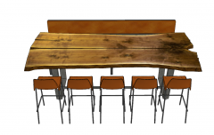 Wooden decorative dining table with 5 chairs and bench sketchup