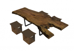 Decorative table with 4 chairs sketchup