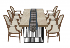 Rectangle dining table with 6 chairs sketchup