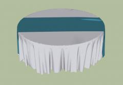 Circle restaurant table sketchup