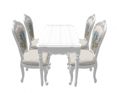 Neoclassic table and 4 chairs sketchup