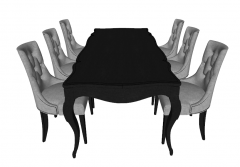 Dark table with 6 chairs sketchup