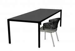 Desk with chair ( fabric back) sketchup