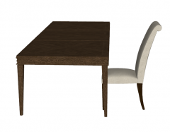 Wooden table with chairs sketchup
