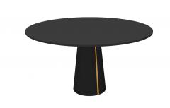Dark wooden circle with pedestal sketchup