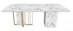 White marble rectangle table sketchup