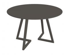 Gray wooden circle table sketchup