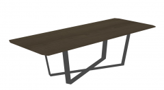 Wooden rectangle table with metal frame sketchup