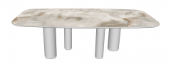 Marble table with white column sketchup
