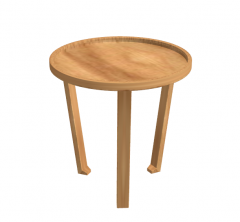 Wooden circle coffee table sketchup