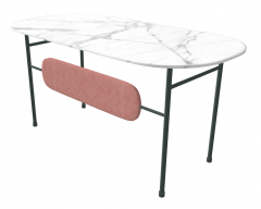 White marble table  sketchup