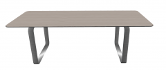 Wooden rectangle table with metal border and polish frame sketchup