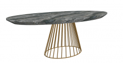Stone table with golden frame sketchup