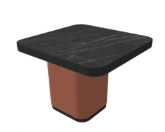 Dark marble table with brown column frame sketchup