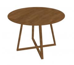 Wooden circle table sketchup