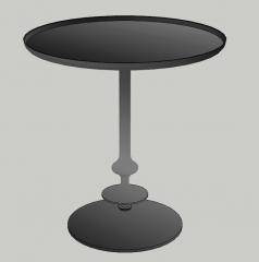 Dark circle table sketchup