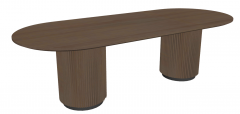 Wooden table with big pedestal sketchup