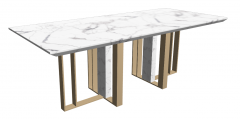 White marble table sketchp