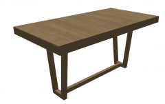 Wooden table sketchup