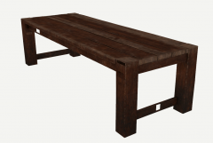 Wooden low table sketchup