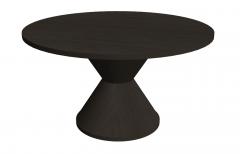 Dark wooden circle table sketchp