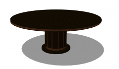 Brown wooden coffee table sketchup