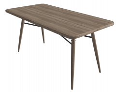 Wooden rectangle table with bracing sketchup