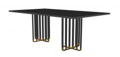 Esboço de mesa retangular de metal cinza