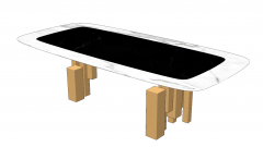 Marble table with copper leg sketchup