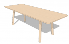 Light wooden table sketchup