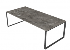 Gray marble table with steel frame sketchup