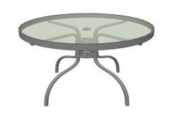 圆桌与玻璃桌面和钢框架Sketchup