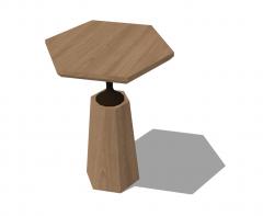 Hexagon wooden table sketchup