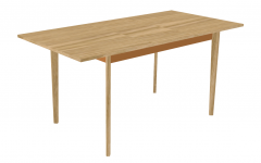Kitchen brown wooden table with copper bracing sketchup