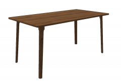 Kitchen wooden table sketchup