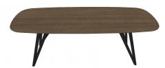 Dark brown wooden kitchen table with dark frame sketchup