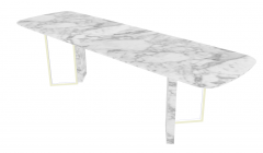 White marble long kitchen table sketchup
