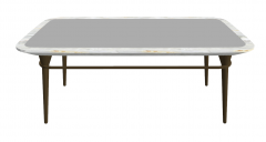 Kitchen table with gray table top and wooden leg sketchup